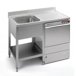 Lava-loiça com escorredor e orifício 1800x600mm